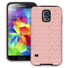 Golden Pink Quatrefoil Samsung Galaxy S5 ColorStrong Cush-Pro Case