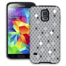 Speckled Grey Quatrefoil Samsung Galaxy S5 ColorStrong Cush-Pro Case