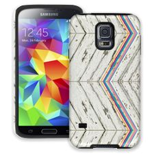 Rainbow Refraction White Wood Samsung Galaxy S5 ColorStrong Cush-Pro Case