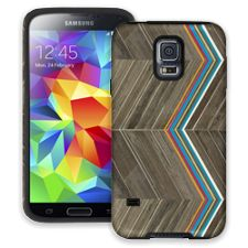 Rainbow Refraction Brown Wood Samsung Galaxy S5 ColorStrong Cush-Pro Case