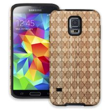 Aged Wood Quatrefoil Samsung Galaxy S5 ColorStrong Cush-Pro Case