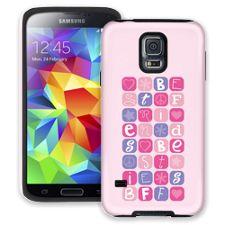 BFF Blocks Pink Samsung Galaxy S5 ColorStrong Cush-Pro Case