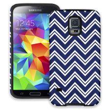 Blue & White Double Chevron Samsung Galaxy S5 ColorStrong Cush-Pro Case