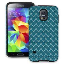 Teal Quatrefoil Samsung Galaxy S5 ColorStrong Cush-Pro Case