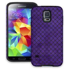 Purple & Black Quatrefoil Samsung Galaxy S5 ColorStrong Cush-Pro Case