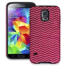 Berry & White Chevron Samsung Galaxy S5 ColorStrong Cush-Pro Case