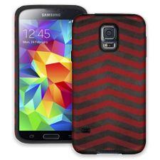 Red & Grey Bold Chevron Samsung Galaxy S5 ColorStrong Cush-Pro Case
