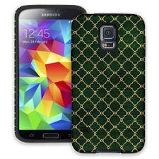 Green & Gold Quatrefoil Samsung Galaxy S5 ColorStrong Cush-Pro Case