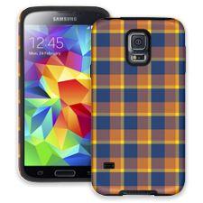 Blue & Yellow Plaid Samsung Galaxy S5 ColorStrong Cush-Pro Case