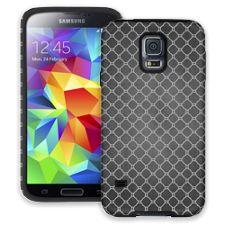 Grey on Grey Quatrefoil Light Samsung Galaxy S5 ColorStrong Cush-Pro Case