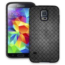 Grey on Grey Quatrefoil Dark Samsung Galaxy S5 ColorStrong Cush-Pro Case