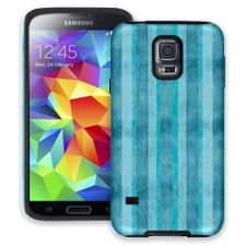 Distressed Blue Stripes Samsung Galaxy S5 ColorStrong Cush-Pro Case