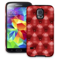 Red Leather Samsung Galaxy S5 ColorStrong Cush-Pro Case