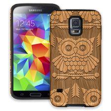 Woodcut Owl Samsung Galaxy S5 ColorStrong Cush-Pro Case