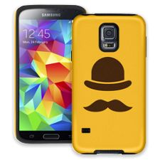 Bowler Hat & Mustache Samsung Galaxy S5 ColorStrong Cush-Pro Case