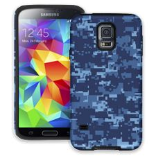 Blue Digital Camouflage Samsung Galaxy S5 ColorStrong Cush-Pro Case
