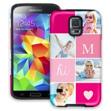 Strawberry Squares Samsung Galaxy S5 ColorStrong Cush-Pro Case