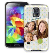 Polka Dot Muslin Samsung Galaxy S5 ColorStrong Cush-Pro Case
