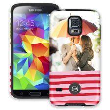 Raspberry Waves Samsung Galaxy S5 ColorStrong Cush-Pro Case