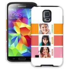 Sherbet Blocks Samsung Galaxy S5 ColorStrong Cush-Pro Case