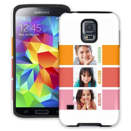 Sherbet Blocks Samsung Galaxy S5 ColorStrong Cush-Pro Case