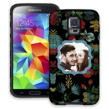 Bright Floral on Black Samsung Galaxy S5 ColorStrong Cush-Pro Case