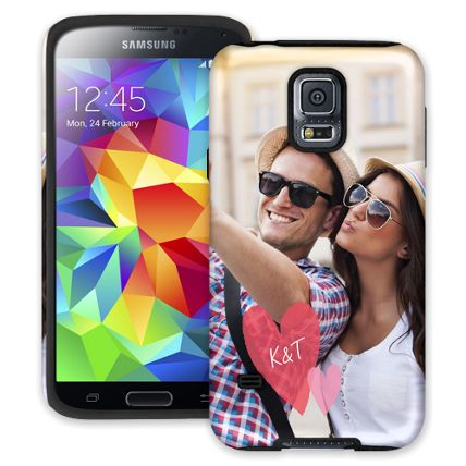 Tissue Paper Hearts Samsung Galaxy S5 ColorStrong Cush-Pro Case
