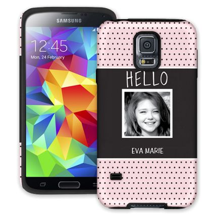 Retro Dots Samsung Galaxy S5 ColorStrong Cush-Pro Case