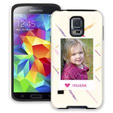 Crayon Splash Pink Samsung Galaxy S5 ColorStrong Cush-Pro Case