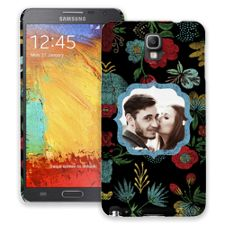 Bright Floral on Black Samsung Galaxy Note 3 ColorStrong Slim-Pro Case