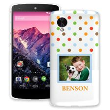 Rainbow Sprinkles Google Nexus 5 ColorStrong Slim-Pro Case