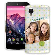 Polka Dot Muslin Google Nexus 5 ColorStrong Slim-Pro Case