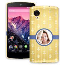 Blue Ribbon Anchors Google Nexus 5 ColorStrong Slim-Pro Case