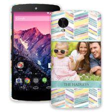 Colored Chalk Chevron Google Nexus 5 ColorStrong Slim-Pro Case
