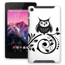 Scrollwork Owl Google Nexus 7 ColorStrong Slim-Pro Case