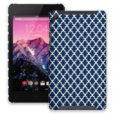 Keyhole Quatrefoil Navy Blue Google Nexus 7 ColorStrong Slim-Pro Case