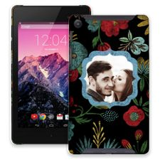 Bright Floral on Black Google Nexus 7 ColorStrong Slim-Pro Case