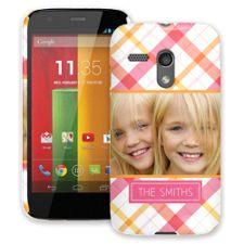 Pink Plaid Motorola MotoG ColorStrong Slim-Pro Case