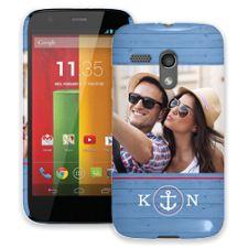 Blue Nautical Motorola MotoG ColorStrong Slim-Pro Case