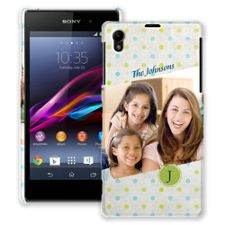 Polka Dot Muslin Sony Xperia Z1 ColorStrong Slim-Pro Case