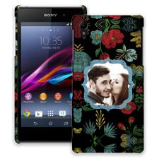 Bright Floral on Black Sony Xperia Z1 ColorStrong Slim-Pro Case
