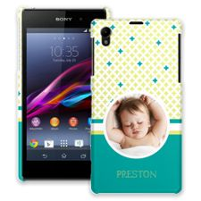 Teal Dreams Sony Xperia Z1 ColorStrong Slim-Pro Case