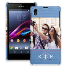 Blue Nautical Sony Xperia Z1 ColorStrong Slim-Pro Case