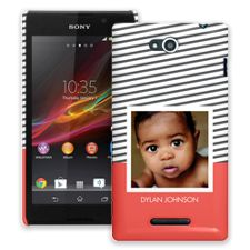 Skinny Stripes Sony Xperia C ColorStrong Slim-Pro Case