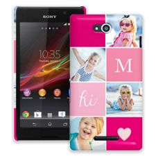 Strawberry Squares Sony Xperia C ColorStrong Slim-Pro Case
