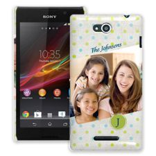 Polka Dot Muslin Sony Xperia C ColorStrong Slim-Pro Case