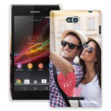 Tissue Paper Hearts Sony Xperia C ColorStrong Slim-Pro Case