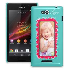 Love Scribbles Sony Xperia C ColorStrong Slim-Pro Case