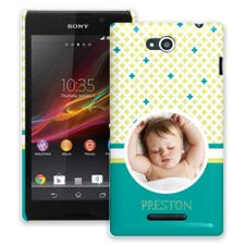 Teal Dreams Sony Xperia C ColorStrong Slim-Pro Case