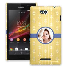 Blue Ribbon Anchors Sony Xperia C ColorStrong Slim-Pro Case